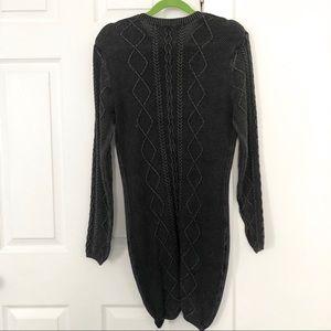 Anthropologie Dresses - Anthropologie Lovemarks Knit Gray Sweater Dress M